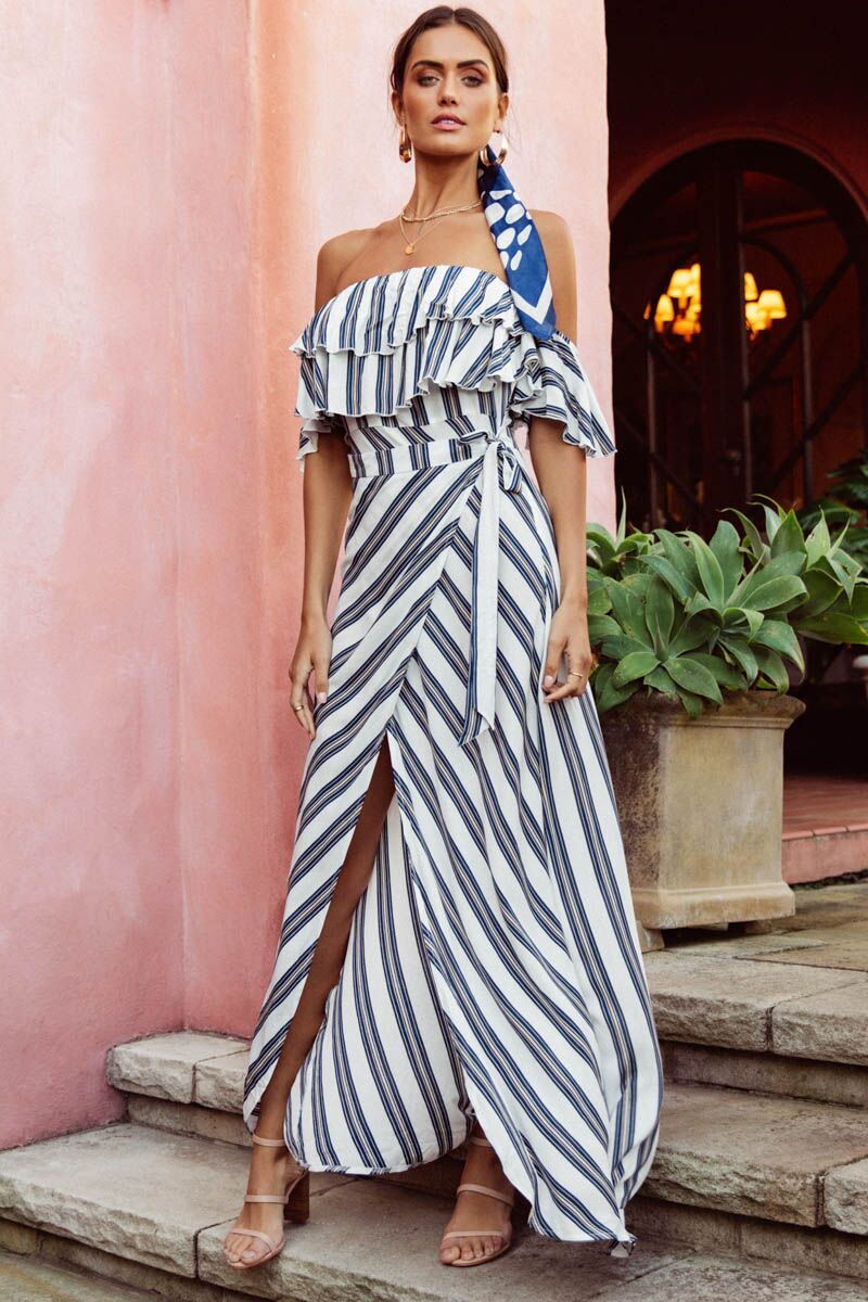 973f5d1ec Lotte Maxi Dress - Blue & White Stripe - SNDYS Everyday - Hedzup ...